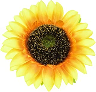DDazzling Sunflower Crown Sunflower Headband Sunflower Halo Hair Accessories (Big Yellow Clip)