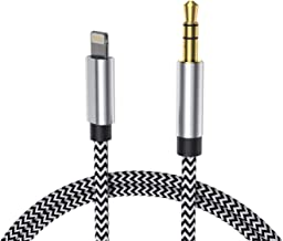Aux Cable for Car, Hzmirzk Aux Cord Compatible with iPhone 7/8/X/Xs/Xr/iPad/iPod, 3.5MM Male Aux to Car Stereo or Speaker or Headphone Adapter, Support Newest iOS 11.4/12 Version or Above