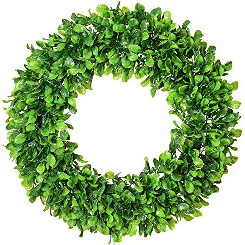Lvydec Artificial Green Leaves Wreath - 20
