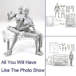 Yefun Body Kun DX Set Figuras de acción Masculinas y Femeninas Set de Modelos para SHF Body Kun Doll PVC Body-Chan DX Set 2.0