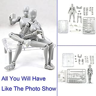 Uranny Body-Chan DX Set 2.0 Male & Female Body Kun DX Set for SHF Body Kun Doll PVC Action Figure Model Set for Painting,Gifts, Collections