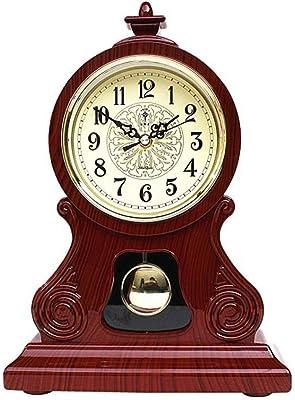 CLing Reloj de Escritorio Mecánico Adornos de Madera Maciza Mesa ...