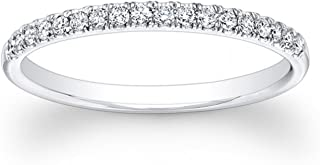cubic zirconia bands white gold