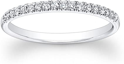 Clara Pucci 0.85 ct Brilliant Round Cut Wedding Promise Bridal Engagement Band in Solid 14K Tri-Gold