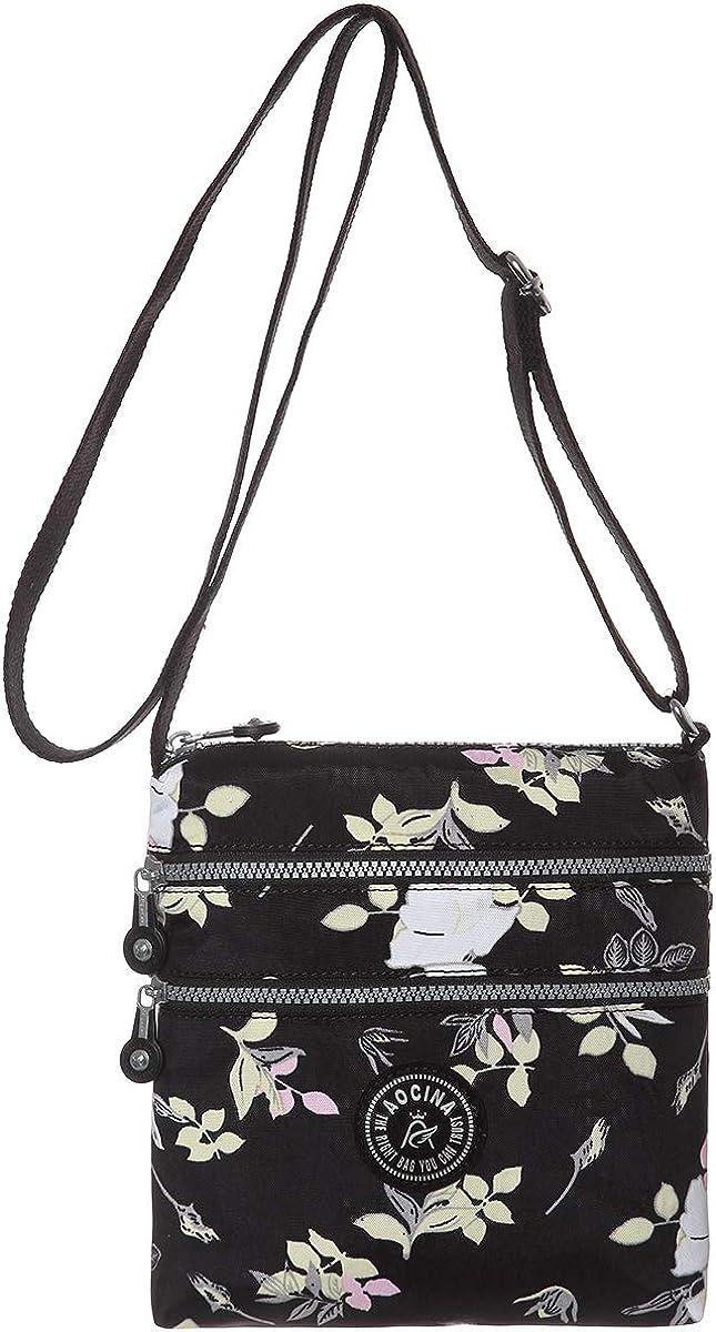 AOCINA Women's Crossbody Handbags Lightweight Shoulder Travel Bags for Women with Multi Zipper Pockets