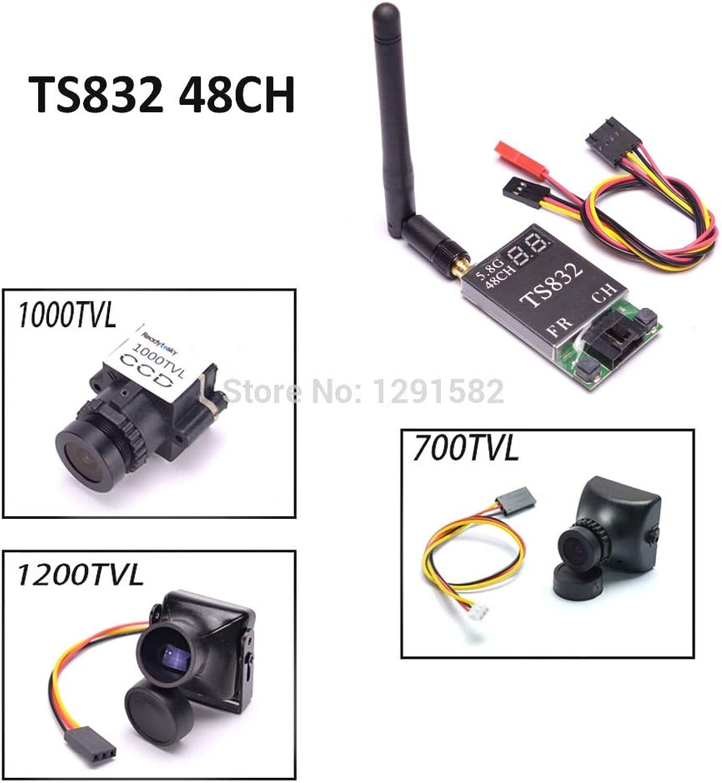 Laliva TS832 5.8G 600mW 48CH 48 Channels Wireless Transmitter & 700TVL   1000TVL   1200TVL Camera for Mini 270 Drone Quadcopter  (color  with 1200TVL Camera)