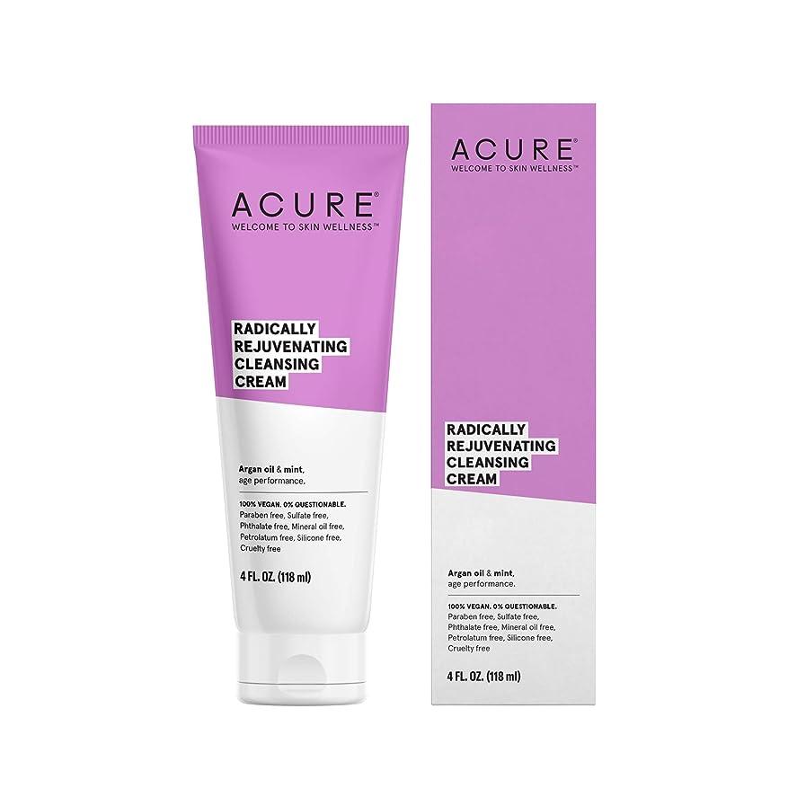 選出するトロピカル気味の悪いACURE社 Facial Cleansing Creme Argan Oil + Mint 4オンス