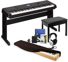 Yamaha DGX660 Digital Piano Education Bundle, Black with Yamaha Accessories, Dust Cover, and Headphones