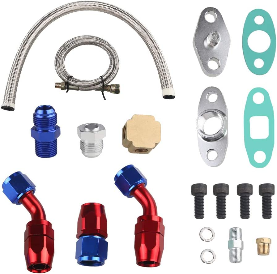 In a popularity JDMON Turbo Oil Feed Line Max 52% OFF Drain Complet Return Pipe