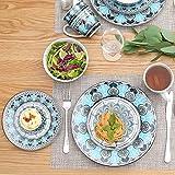 VEWEET, Tafelservice Serie 'Audrie' aus Porzellan, 32-teilig Kombiservice beinhaltet 10,75 '' Speiseteller, 7,5 '' Desserteller, 5,5 '' Schüssel und 380ml Kaffeebecher,Komplettservice für 8 Personen - 4