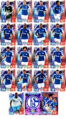 Match Attax Bundesliga 2015 2016 - Karten-Set FC Schalke 04 Cap Viererkette Clubkarte - Deutsch