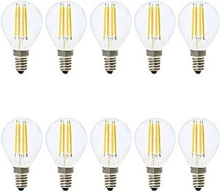 ZLF E14 LED Golf Ball Bulb Dimmable/Transparent Bulbs/Equivalent to 30W Small Edison Screw Bulbs Warm White 2700K AC 220V/ 4W/300 Lumen