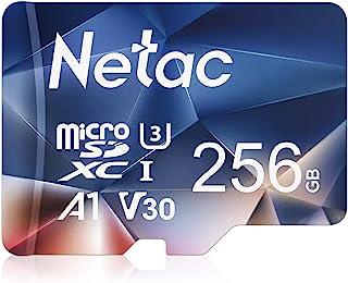 Netac Tarjeta de Memoria de 256GB, Tarjeta Memoria microSDXC(A1, U3, C10, V30, 4K, 667X) UHS-I Velocidad de Lectura hasta ...