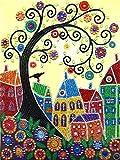 Kits de Pintura de Diamantes con Forma Especial para Adultos árbol de la Vida de Adultos Punto de...