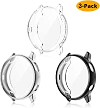 EZCO 3-Pack Screen Protector Case Compatible with Samsung Galaxy Watch Active 2 40mm / 44mm, Plated Soft Tup Case Full Cov...