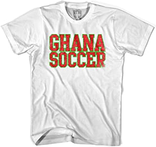 Ghana Soccer Nations World Cup T-shirt, White, Adult X-Large