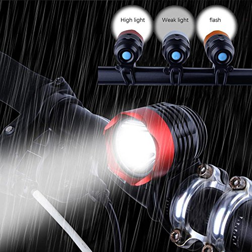 TropBox USB Fahrradlicht Vorderlicht, 3 Modi, helle LED-Scheinwerfer, Frontlicht und Fahrrad, einfache Installation, 3000 Lumen