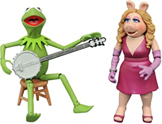 The Muppets Best of Series 1: Kermit & Miss Piggy Action Figure Two-Pack, Multicolor