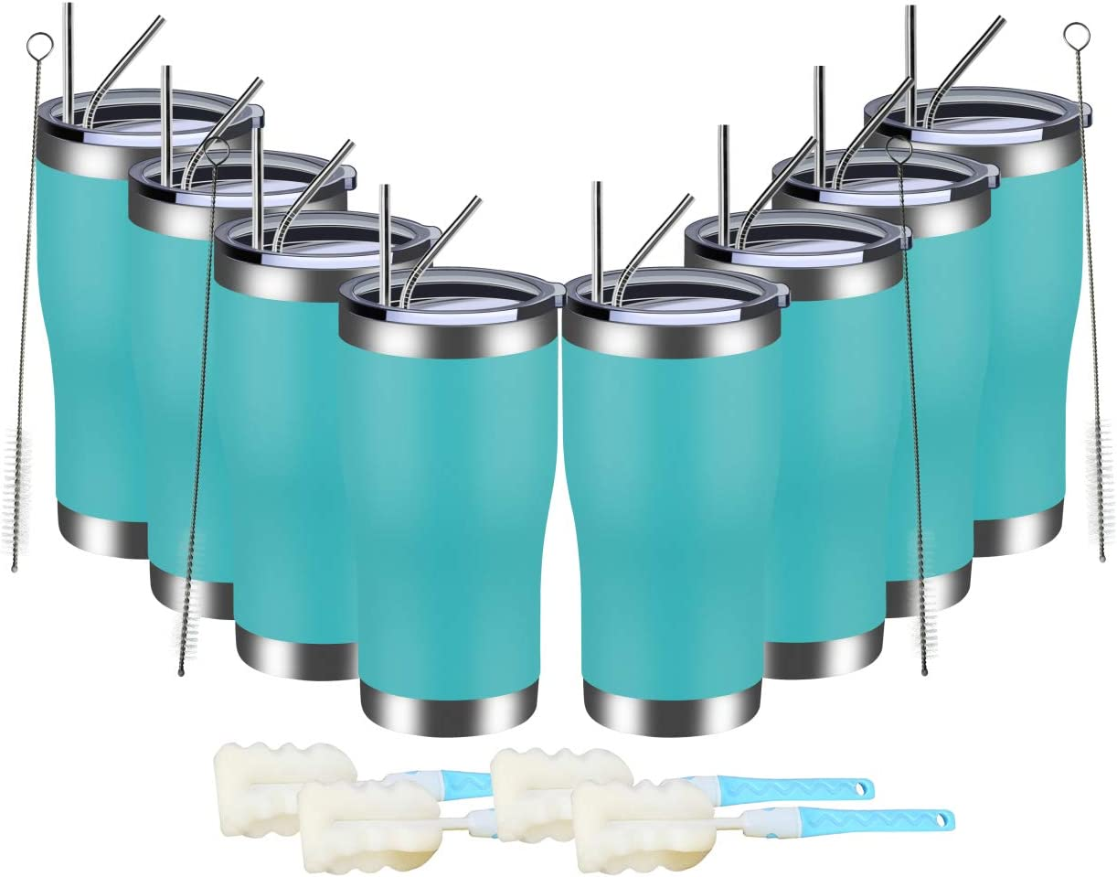 MEWAY 20oz Stainless Seattle Mall Steel Superior Tumblers Insulate Bulk 8 Pack Vacuum