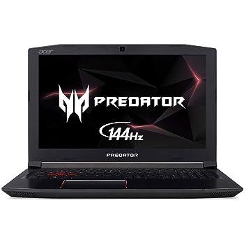 "Acer Predator Helios 300 Gaming Laptop PC, 15.6"" FHD IPS w/ 144Hz Refresh, Intel i7-8750H, GTX 1060 6GB, 16GB DDR4, 256GB NVMe SSD, Aeroblade Metal Fans PH315-51-78NP"
