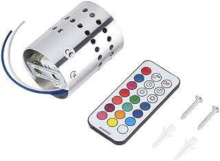 Foco LED para techo y pared, Focos para la pared, 3W LED Lámpara De Pared Para Interiores Modernos Colores RGB en Espiral Agujero Lámpara de Pared Superficie Instalar Lámpara de Iluminación Led Para C