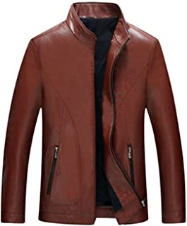 Clothing Sheep Skin Men Leather Fashion Stand Thin Leather Jacket Casual Coat