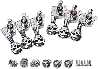 HEALLILY 1 Set 6R Guitar String Tuning Pegs Tuner Machine Heads Skull Shape Knobs Tuning Keys for Acoustic Electric Guitar...