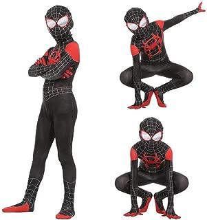 Halloween Superhero Unisex Lycra Spandex Spider Into The Spider-Verse Kids Bodysuit Spider Costumes