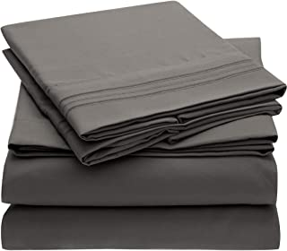 grey full bed sheets