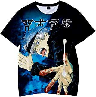 YEOU Anime T-Shirt Yuji Itadori Graphic 3D Print Short Sleeve Youth Tees Tops