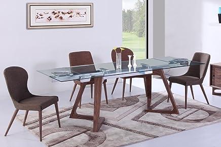 Amazon Fr Table Verre Rallonge Tables Salle A Manger Cuisine