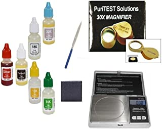 Flavor 6 Gold Testing Acid Jewelry Test Kit And Scratch Stone Detect Check Metals Lot Fragrant In