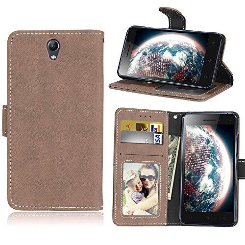 Lenovo Vibe S1(5.0') Case - for Lenovo Vibe S1(5.0') Matte leather case cover,Anti-fall flip card slot phone case - Beige