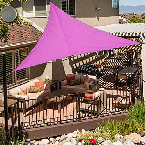 OldPAPA Voile d'Ombrage Triangle Étanche Crème Solaire Poids Léger Jardin Balcon Parasol Bloquer UV,3x3x3m, Rose