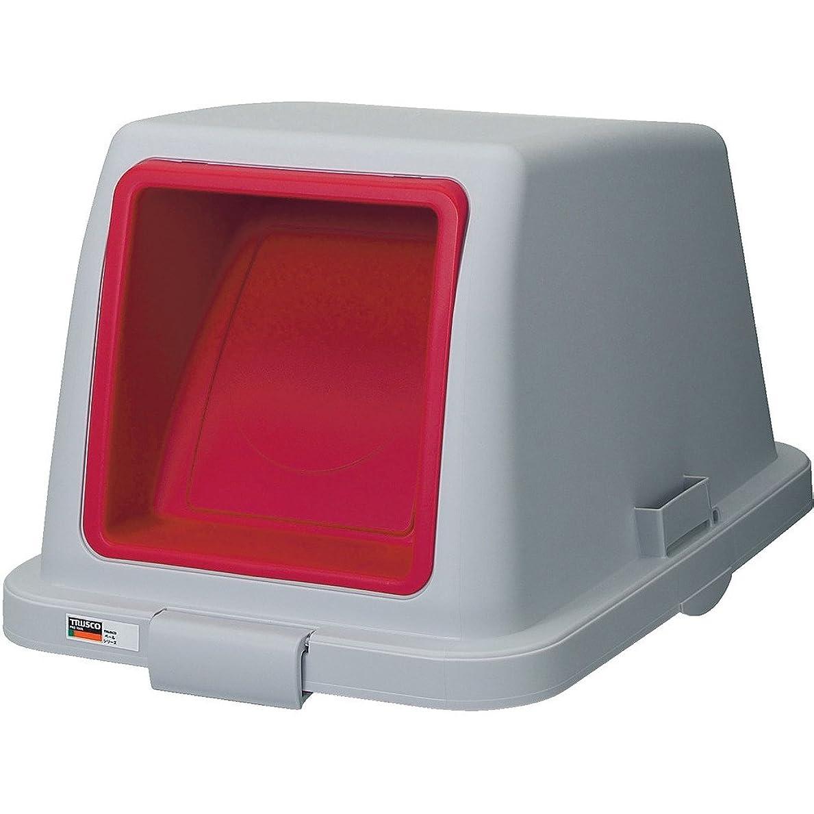 プラットフォーム領収書プラスチックTRUSCO(トラスコ) 分別ペール70型用プッシュフタ 赤 TBP-70SPU-R