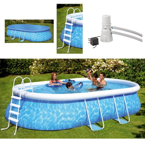 Friedola 12305 – Quick de Pool Juego de Manhattan, 610 x 366 x 122 cm, Color Azul