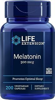 Life Extension Melatonin 500 Mcg, 200 Vegetarian Capsules