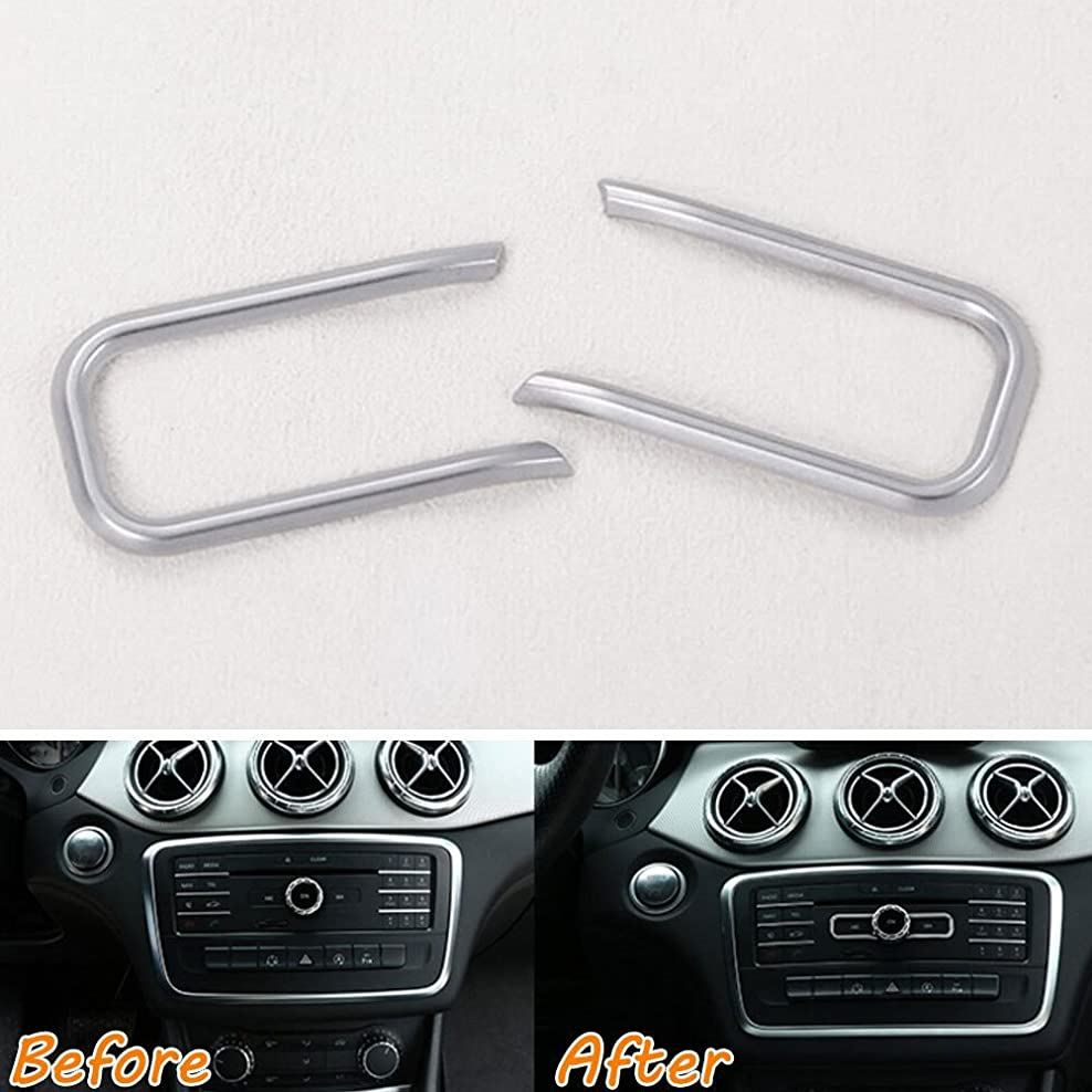 見捨てられたふけるそのようなJicorzo - Dashboard Console CD Volume Switch Cover Trim Decor Frame Sticker ABS Car Styling For Mercedes Benz CLA Class C117 W117 2015-16