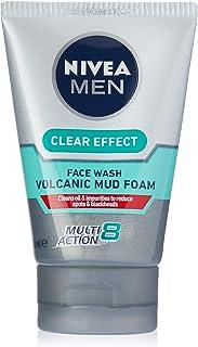 NIVEA MEN Clear Effect Volcanic Mud Foam Face Wash, 100ml