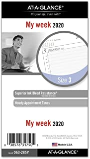 AT-A-GLANCE 2020 Weekly Planner Refill, Day Runner, 3-3/4