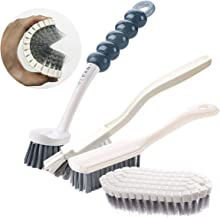 4 Pack Deep Cleaning Brush Set-Kitchen Cleaning Brushes, Includes Grips Dish Brush, Bottle Brush, Scrub Brush Bathroom Bru...