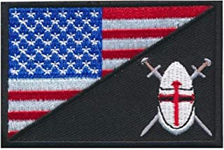 ShowPlus Navy Seals Patch Tactical Patch Uniform Military Embroidered Applique (US Crusader)