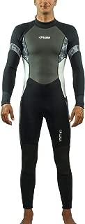 Scubadonkey Surfing Full Body Wetsuit for Men 3mm Neoprene Shark Skin Chest Panel Super Stretch Neck and Cuffs