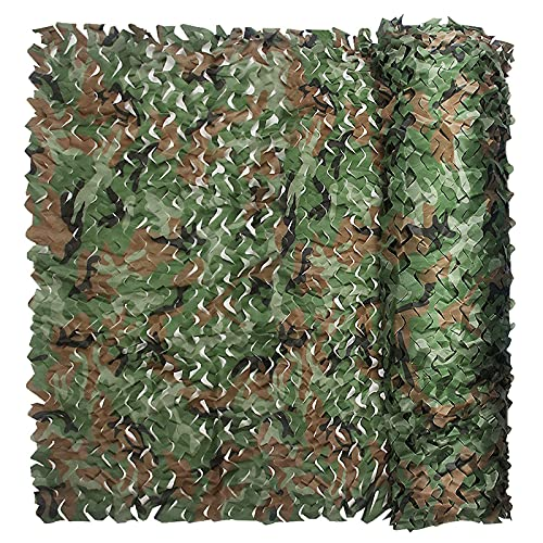 FLAMY Bulk Roll Camouflage Net,Woodland Camo Netting Camouflage Net for Camping Military Hunting Shooting Sunscreen Nets,Multiple color sizes