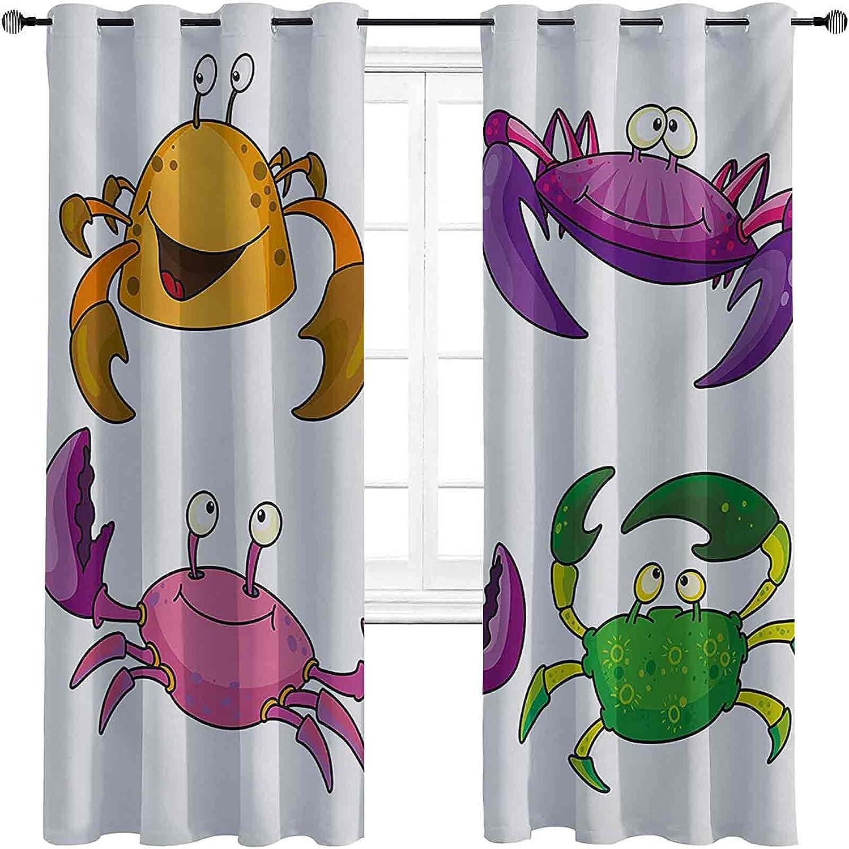 Heat Insulation Crabs Curtain Max 74% OFF Theme Illustration Tulsa Mall Kids Children