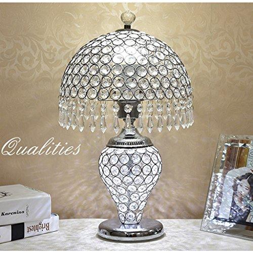Bonne chose lampe de table Lampe de table en cristal européen, lampe de chevet de chambre à coucher, moderne simple salon décoration cadeaux lumière lampe de table RSilver veilleuse