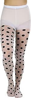 ToBeInStyle Women's Vintage Style Polkadot Pantyhose