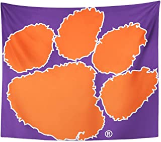 Semtomn Tapestry Artwork Wall Hanging Football Clemson University Tiger South Carolina Territory Power Basketball 50x60 Inches Tapestries Mattress Tablecloth Curtain Home Decor Print