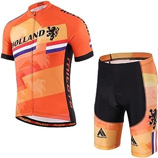 Uriah Men's Cycling Jersey and Shorts Sets Short Sleeve Reflective
