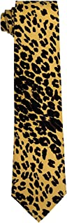 Men's Two Pc SET Microfiber Leopard Animal Print Necktie Tie & Pocket Square